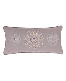 Home Solano Sparkle Burlap Embroidered Pillow