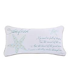 Home Del Ray Starfish Metallic Pillow