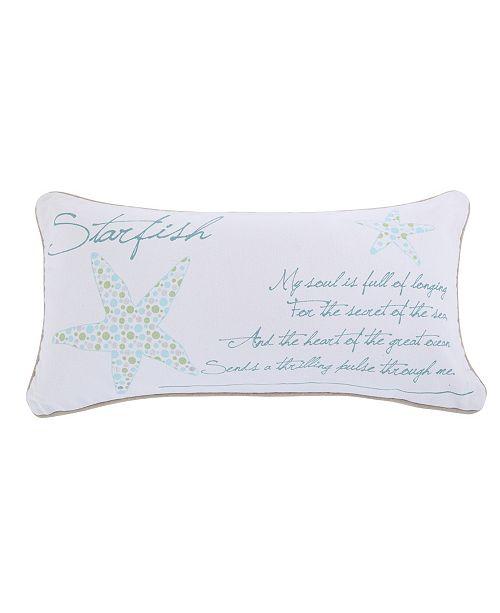 Levtex Home Del Ray Starfish Metallic Pillow