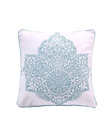 Levtex Home Avalon Spa Teal Medallion Pillow