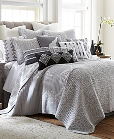 Home Carlisle Gray Full/Queen Quilt Set