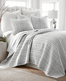 Levtex Home Bondi Stripe Gray Full/Queen Quilt Set