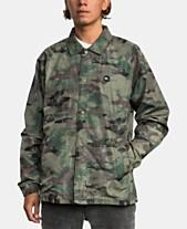 83eeffb591a22 RVCA Green Mens Jackets & Coats - Macy's