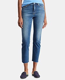 Lauren Ralph Lauren Regal Straight Frayed Hem Jeans