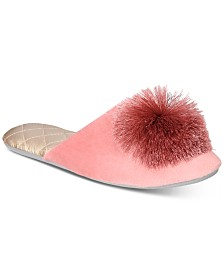 I.N.C. Tassel Pom Pom Slippers, Created for Macy's