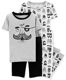 Carter's Little Boys 4-Pc. Pirate Graphic Pajamas Set