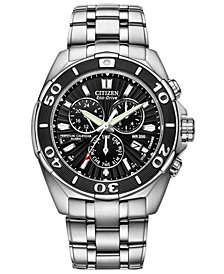 Citizen Men's Eco-Drive Signature Perpetual Calendar Chronograph Stainless Steel Bracelet Watch 43mm BL5440-58E