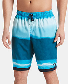 "Nike Men's Optic Halo Horizon Colorblocked 9"" Board Shorts"