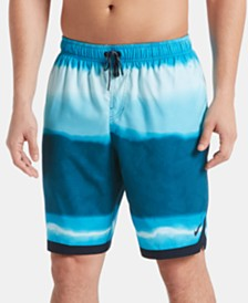 "Nike Men's Optic Halo Horizon Colorblocked 9"" Swim Trunks"