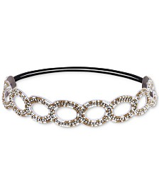 Deepa Two-Tone Crystal & Bead Stretch Headband