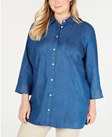Karen Scott Plus Size Chambray Tunic, Created for Macy's