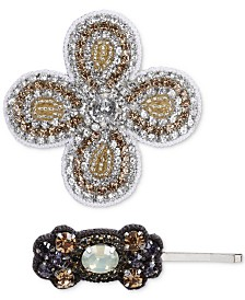 Deepa Two-Tone 2-Pc. Crystal & Bead Hair Clip and Bobby Pin Set