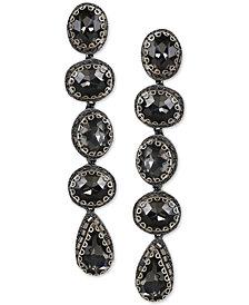 Deepa Geometric Stone Linear Drop Earrings