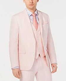 Bar III Men's Slim-Fit Linen Pink Suit Jacket, Created for Macy's