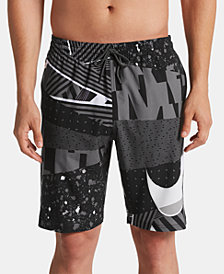 "Nike Men's Mesh Up Vital Printed 9"" Quick-Dry Board Shorts"