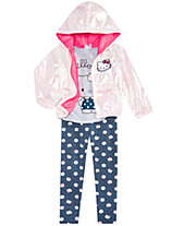1f0edd8827e Hello Kitty Toddler   Little Girls Hooded Jacket, Graphic-Print T-shirt