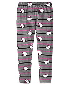 Little Girls Striped Leggings