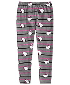 Hello Kitty Little Girls Striped Leggings
