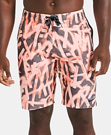 "Men's Glow Diverge Quick-Dry Printed 9"" E-Board Swim Trunks"