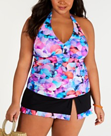 3c633ee3393 Profile By Gottex Plus Size Tankini Top   Swim Skirt