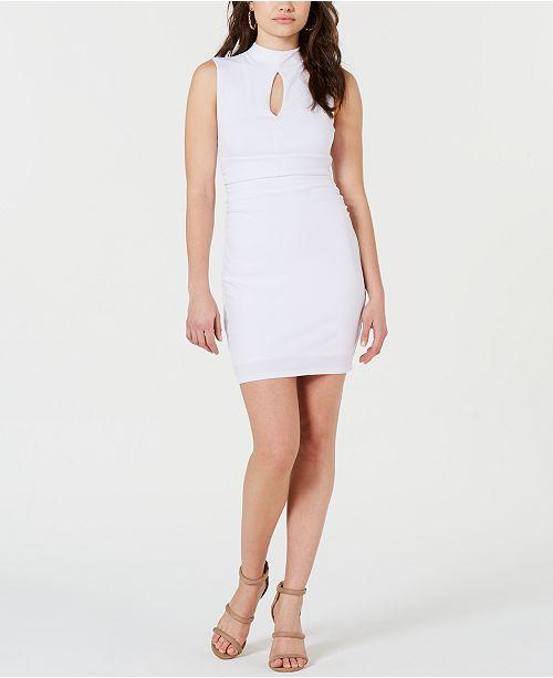 GUESS Janessa Keyhole Mock-Neck Dress