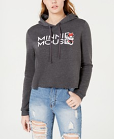 Modern Lux Juniors' Minnie Mouse Cropped Hoodie