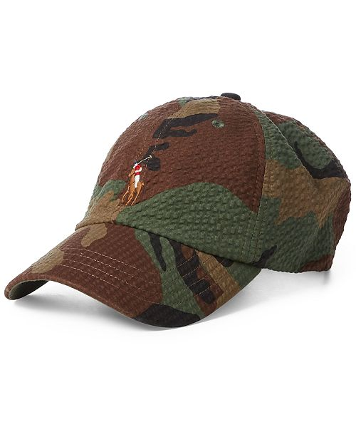 Polo Ralph Lauren Men s Seersucker Camo Cap - Hats 851ea39f7f4