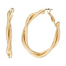 Steve Madden Twist Style Hoop Earring
