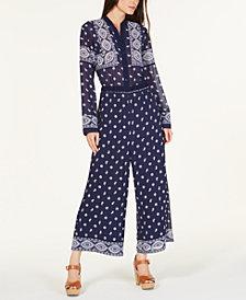 MICHAEL Michael Kors Scarf-Print Jumpsuit