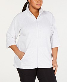 Plus Size High-Low Active Jacket