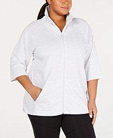 Soffe Plus Size High-Low Active Jacket