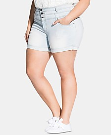 City Chic Trendy Plus Size Denim Shorts