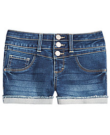 Imperial Star Big Girls Mila Cuffed Denim Shorts