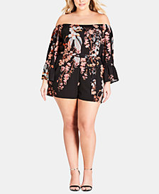 City Chic Trendy Plus Size Delilah Romper