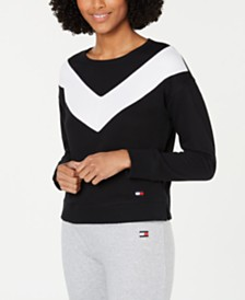 Tommy Hilfiger Sport Colorblocked Drop-Shoulder Top
