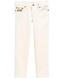 Polo Ralph Little Girls Lauren Embroidered Waverly Straight Stretch Jeans