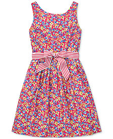 Polo Ralph Lauren Big Girls Floral-Print Fit & Flare Dress