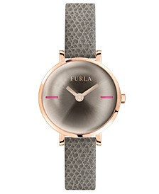 Women's Mirage Champagne Dial Calfskin Leather Watch