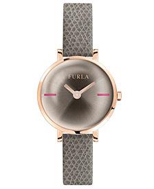 Furla Women's Mirage Champagne Dial Calfskin Leather Watch