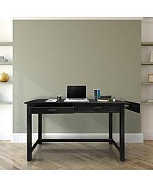 Jefferson Work Desk with Concealed Side Drawer, Concealment Furniture