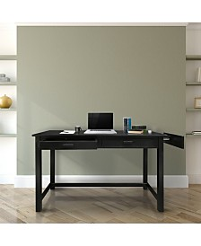 Jefferson Work Desk with Concealed Side Drawer, Concealment Furniture
