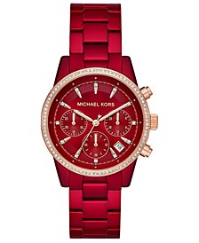 Women's Ritz Red Stainless Steel Bracelet Watch 37mm
