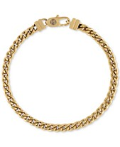321f12ddf Esquire Men's Chain Bracelet in Gold-Tone Ion-Plated Stainless Steel
