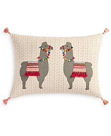 "Whim by Martha Stewart Collection Llama 14"" x 20"" Decorative Pillow, Created for Macy's"