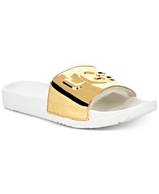 UGG® Women's Royale Graphic Metallic Pool Slides