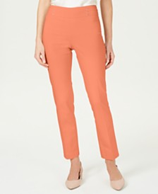 JM Collection Studded Tummy Control Pull-On Pants, Created for Macy's