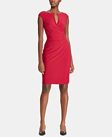 Lauren Ralph Lauren Petite Keyhole Stretch Dress