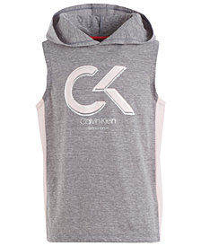Calvin Klein Big Girls Hooded Colorblocked Tank Top