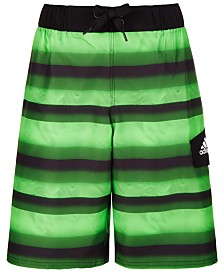 adidas Big Boys Tech Stripe Volley Swimsuit