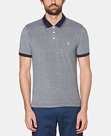 Original Penguin Men's Slim-Fit Birdseye Tipped Polo